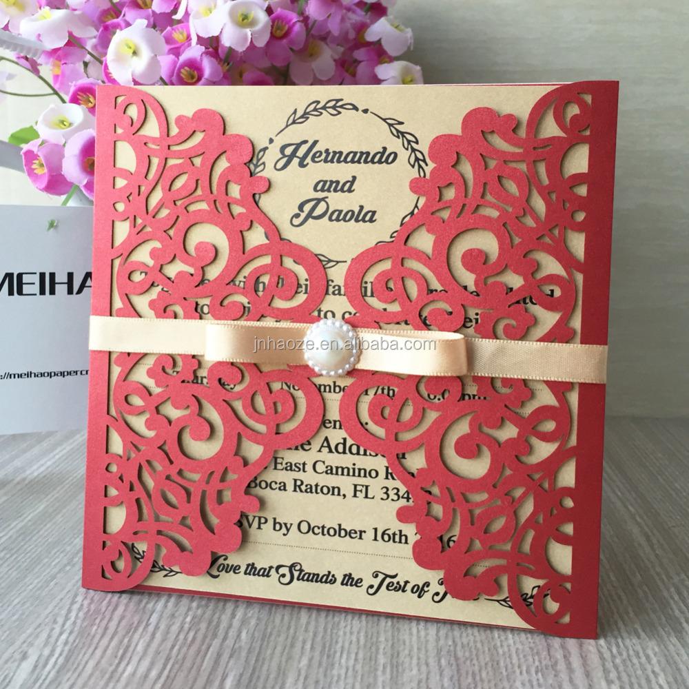 China wedding card with beads wholesale 🇨🇳 - Alibaba