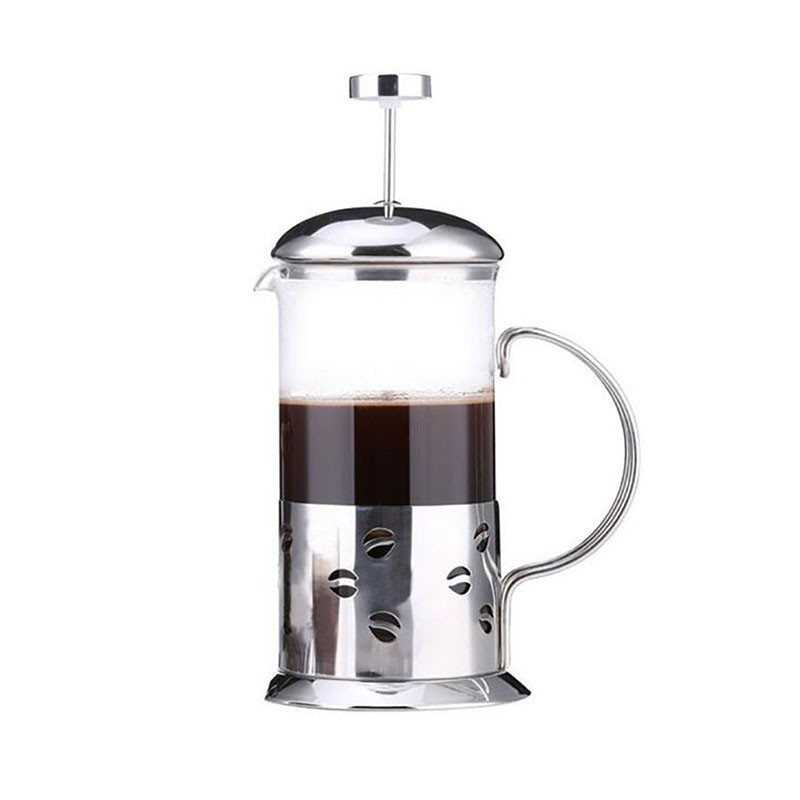 Stainless Steel Glass French Press Pot Cafetiere Coffee Maker Coffee Press Permanent Coffee Filter Baskets Espresso Maker