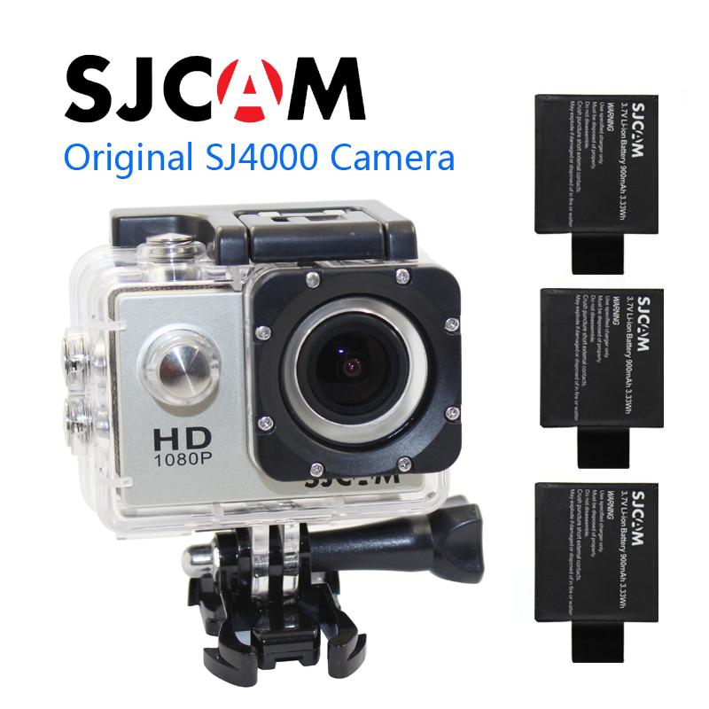 Free shipping!!Original SJ4000 SJCAM Sport Action Waterproof Camera+Extra 1pcs battery+Battery Charger