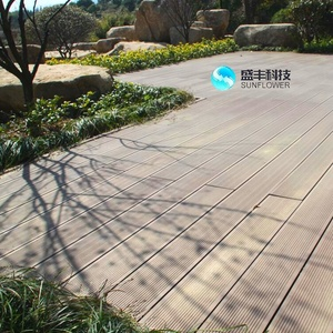 white antiseptic wood plastic composite decking,waterproof laminate flooring,better than pvc decking for wpc decking