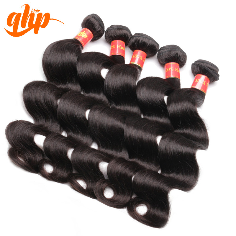 Hair salon equipments hair weft and extensions human hair body wave black color