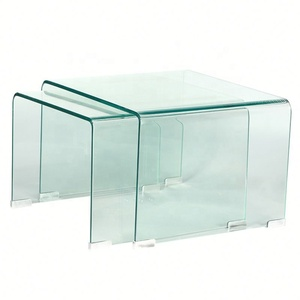Gentil New Design Teapoy Bent Glass Coffee Table Living Room Furniture Coffee  Table Curved Glass Coffee Tables