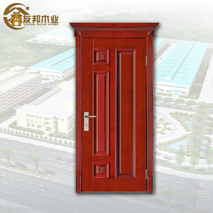 Quality guarantee fiber fancy design arched door with frame and hardware solid ash wood panel