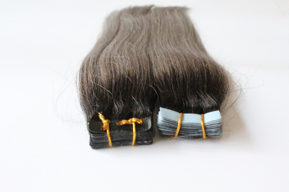 Buy 100 Virgin Silver Extensions 100g 40pcs Silver Ombre Skin Weft