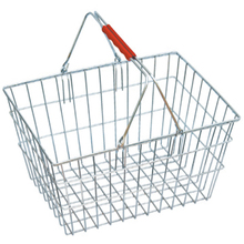 Wire shopping basket with cloth cover JS-SBN09