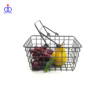Kitchen Bathroom Home Storage Square Grid Mesh Metal Wire Basket