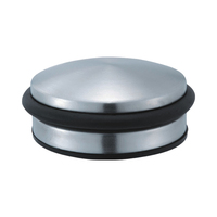 Short stainless steel heavy duty door stopper with rubber ring
