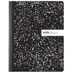 Office Depot(R) Brand Schoolio Marble Composition Book, 9 3/4in. x 7 1/2in., Wide Ruled, 80 Pages (40 Sheets), Black/White