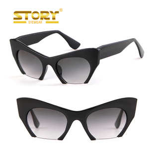 STY1321 cat eye half rim Candy color party cheap colored sunglasses stock