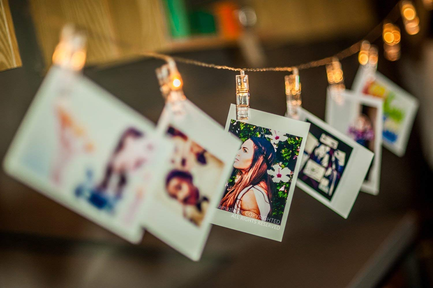 20 LED Photo Clips String Lights Indoor / Outdoor, Christmas Lights, Battery Powered, 7.5 Ft, 20 LED Clips Lights,Multicolor - for Hanging Photos Paintings Pictures Card and Memos (Warm White)
