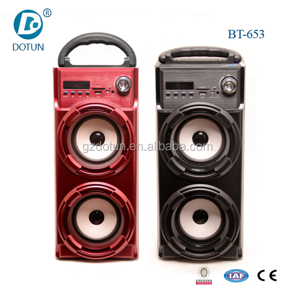 4 inch portable mini speaker wooden portable speaker microphone wood bluetooth speakers fm radio