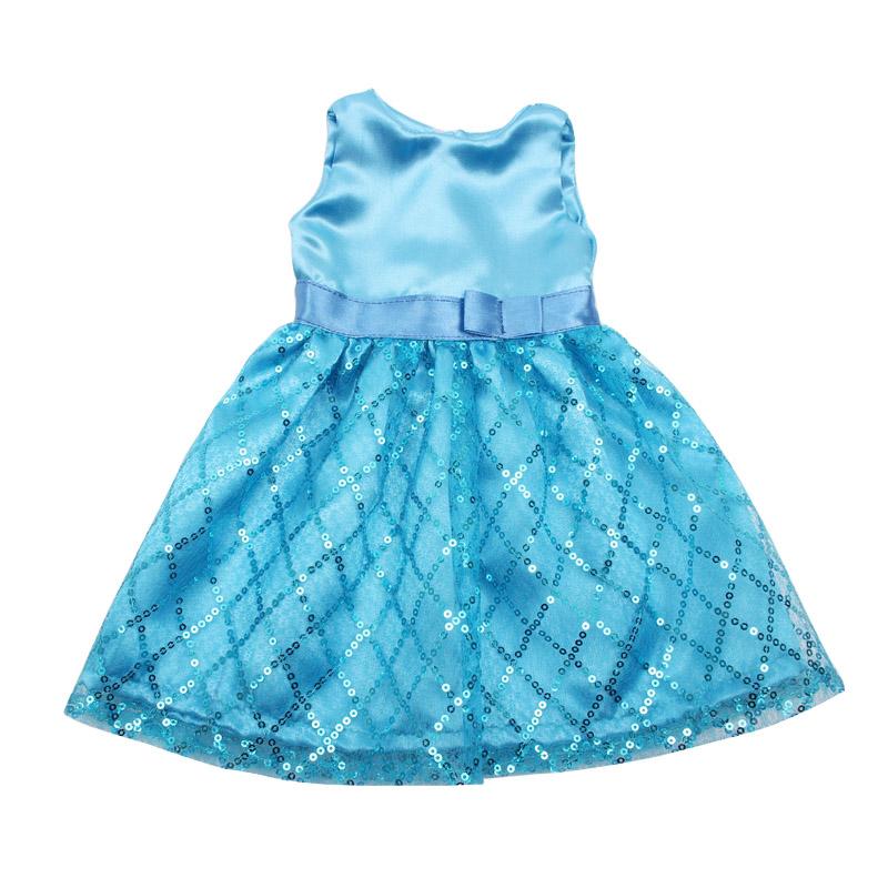 18-дюймовое Кукольное платье для девочек, красивое кружевное вечернее платье принцессы, американская юбка для новорожденных, детские игрушк...(Китай)