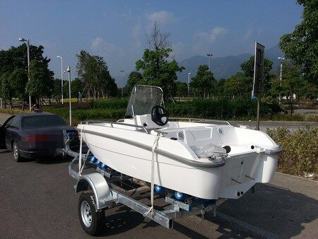 Cheap price 6 person capacity frp fiberglass sport fishing for Cheap fishing boats for sale