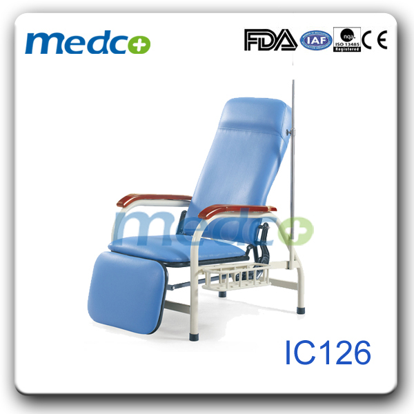 Hospital reclining chairs with iv pole price IC126