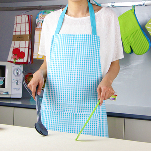 Light blue stripe printed kitchen cotton apron