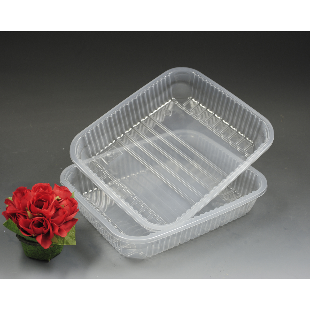 Disposable Plastic Flower Packing Tray for packing food and meat
