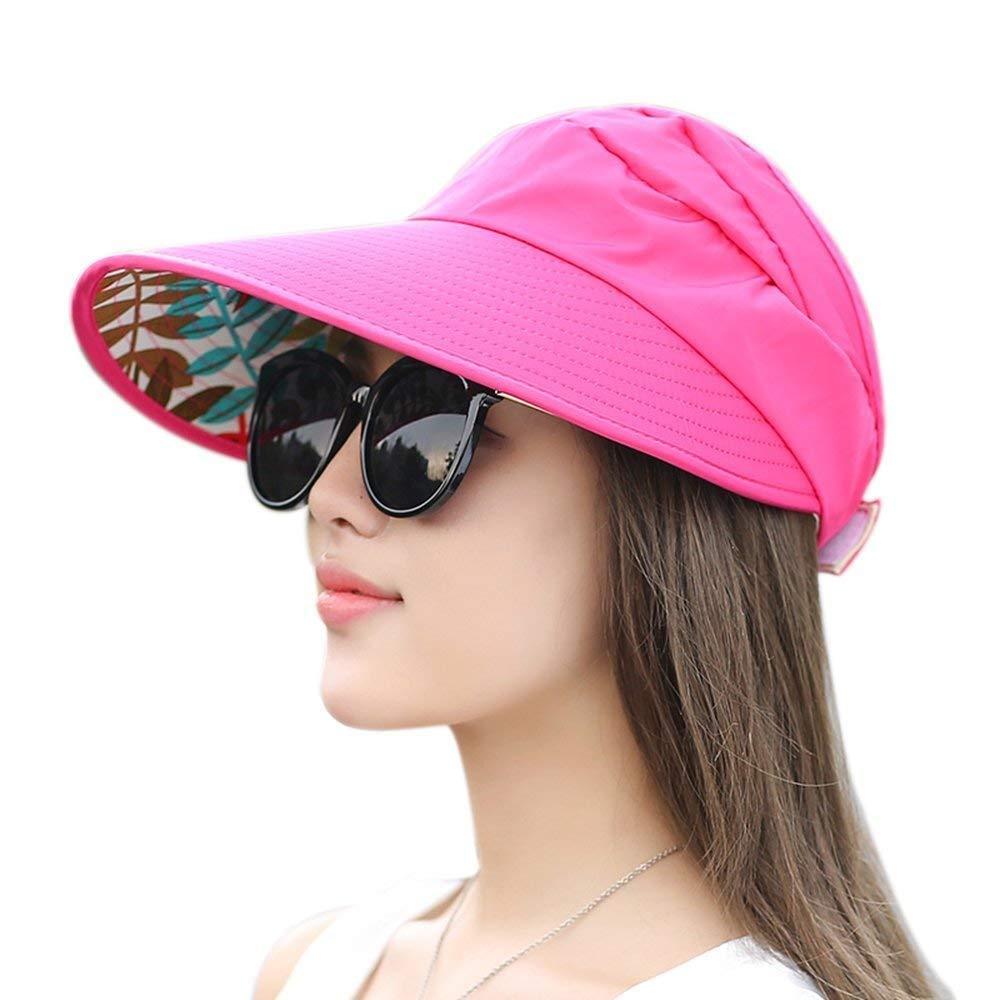 24eb2e71 Get Quotations · Sun Hats, TILO Wide Brim Sun Hats Summer Beach Visor Cap  Anti-UV UPF