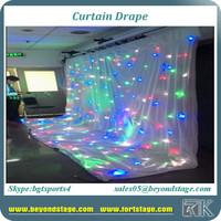 LED star curtain wholesale for wedding backdrop curtain with color changing