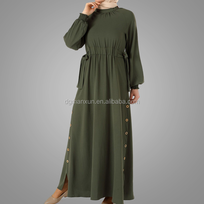 New Dubai Casual Abaya High Quality Polyester Abaya Jilbab Kaftan Dress Hot Selling Kaftan Baju Islamic Clothing