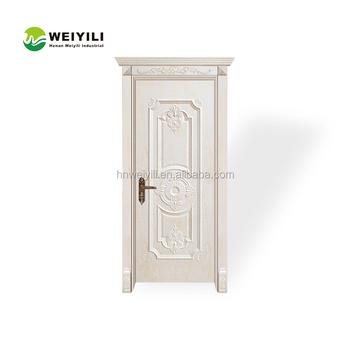 Toilet Pvc Bathroom Door Price Used For Soundproof Solid Interior Wood Door