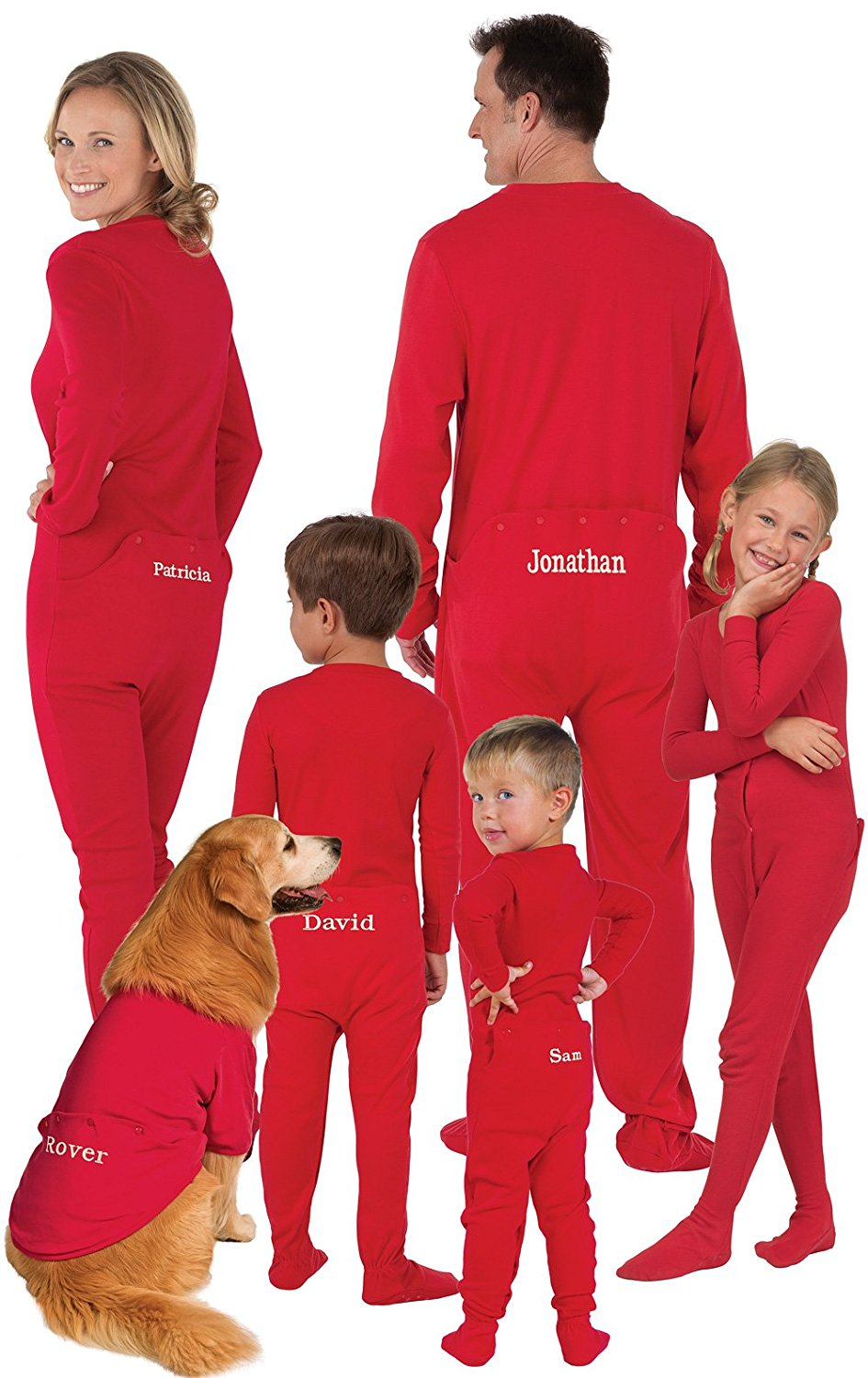 bc23c8be9d Get Quotations · PajamaGram Personalized Onesie Dropseat Matching Family  Pajamas