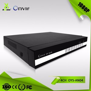 4CH 1080P 2MP NVR ONVIF H.264 Cloud technology 1 HDD NVR cctv camera and recorder OYS-AN04