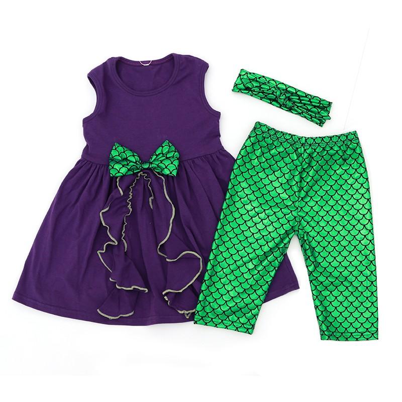 Hot Sale Mermaid Baby Clothes Set Wholesale Children S