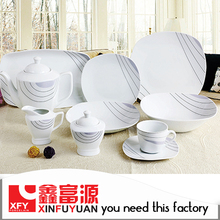 High quality wholesale luxury new design porcelain dinner set