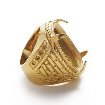 Indonesia New Design Engagement Gold Rings Without Stones Women