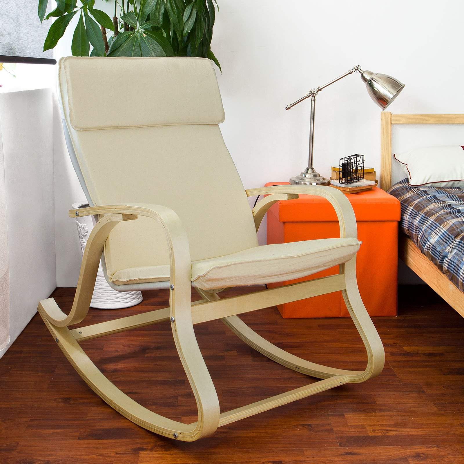 Get Quotations · SoBuy Comfortable Relax Rocking Chair, Gliders,Lounge Chair  With Cotton Fabric Cushion, FST15