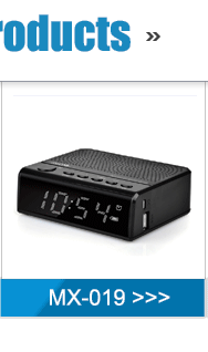Multi-function bluetooth alarm clock radio with usb in hotel