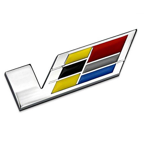 Silver Grille Wreath /& Crest 3D Logo Symbol Stickers Metal Decals for Cadillac Escalade ATS SRX XTS CTS XT5 XLR For 2pcs Cadillac Emblem 6cm