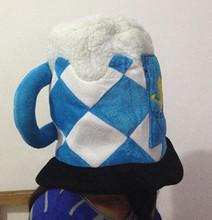 2016 Free shipping World Football beer mug hat carnival hat bar supplies party supplies festive supplies