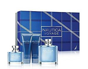 Nautica Voyage By Nautica for Men 4 Piece Gift Set: 3.4 Oz Eau De Toilette Spray + 2.5 Oz After Shave Balm + 2.5 Oz Shower Gel + 1.0 Oz Eau De Toilette Spray