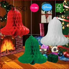 Wholesale Paper Honeycomb Bells Tissue Paper Christmas Decoration