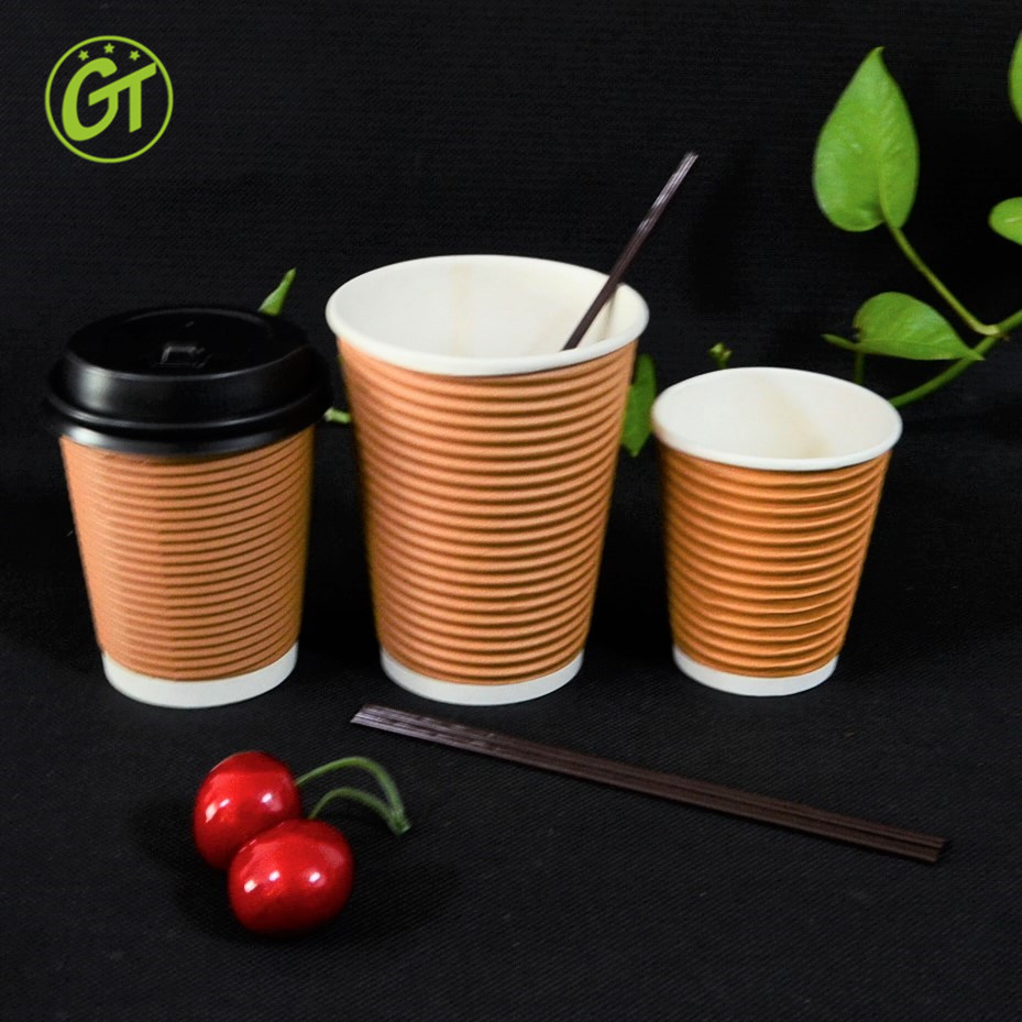Ripple Wall Coffee Paper Cups And Lid Wholesale Paper Philippine Green  Coffee Cups With Logo Disposable Paper Coffee Cup Stirrer - Buy 16oz Foam