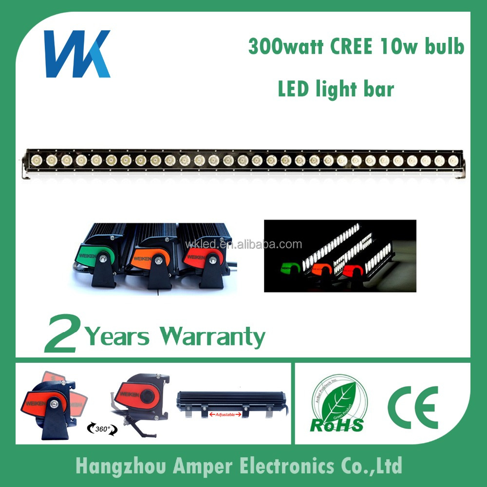 51inch single row 300w 12voltage waterproof moving headlight super slim offroad DRL led light bar with OEM service