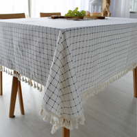 High Quality Cheap Rectangular Cotton Linen 100% Polyester Print Christmas Household Tablecloths