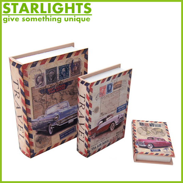 The bible keepsake High Quality Printing wooden fake book box