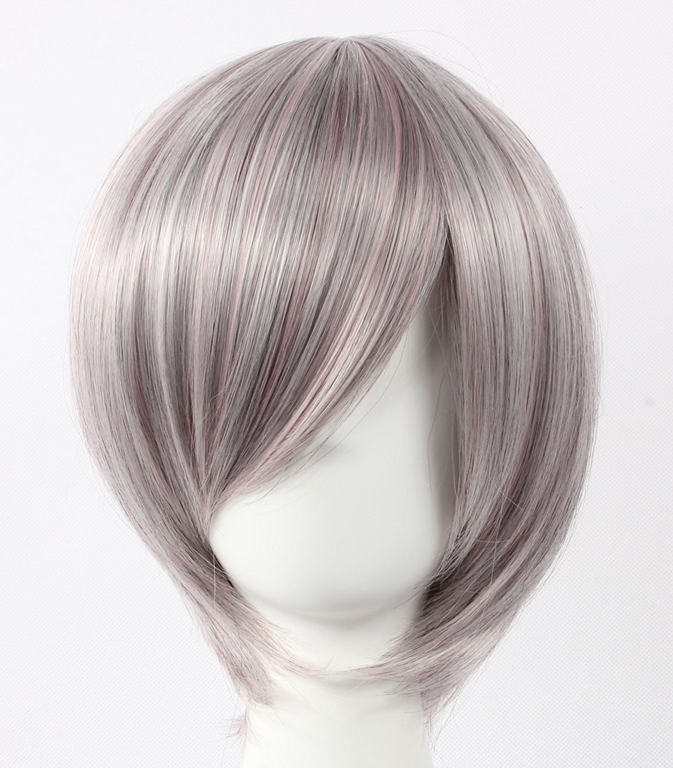 Coolsky Cosplay Wig Light Grey Wig Short Light Grey Straight Wig axis power hetalia I...