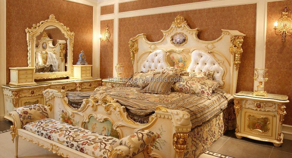 Bisini muebles del dormitorio rococó francés espejo de cuerpo ...