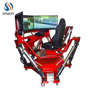Red Race Driving 6 Degree Racing Car Game Machine Driving Simulator