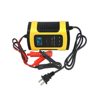 12V 5A 6A motorcycle Car Pulse Repair Battery Charger Lead acid Battery Charger temperature control compensation 12V