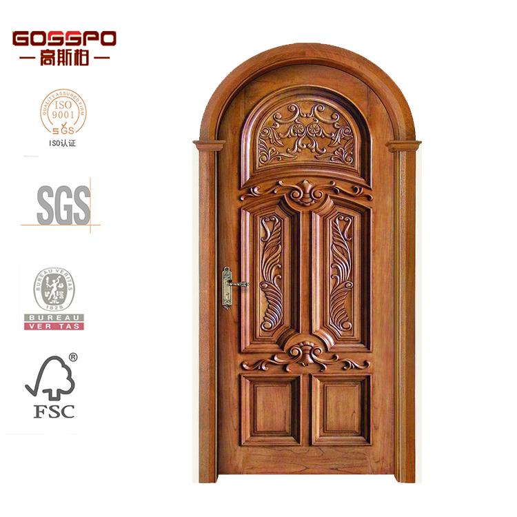 Villa puerta principal tallado arco madera dise o de la for Porte spanish
