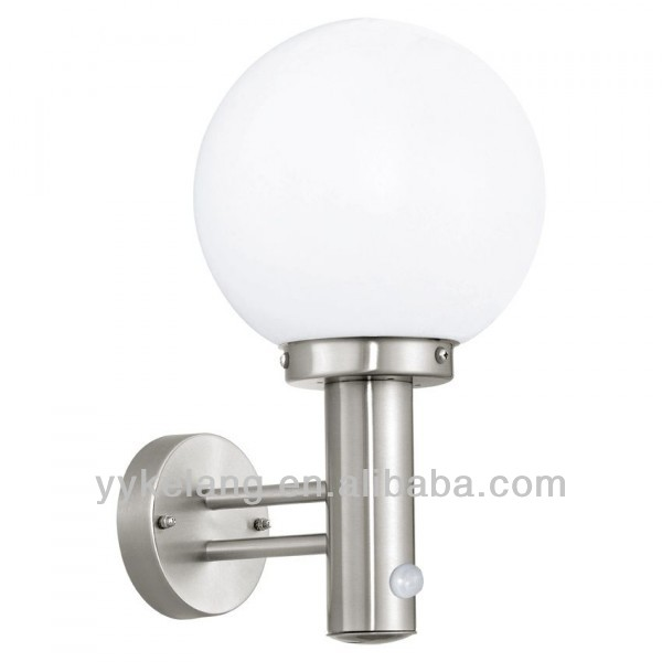 Outdoor sensor wall lamp garden patio light IP44 motion detector 120 150 180 globe
