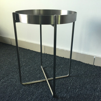 Wholesale Living Room Furniture Chrome Plating Sofa Side Table With Metal  Folding Legs - Buy Cheap Side Tables,Folding Chair Side Table,Metal Side ...