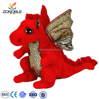 Low MOQ red soft flying dragon toy cuddly kids plush animal cute plush stuffed dragon