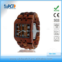 New fashion design wooden wrist watch with custom logo for men