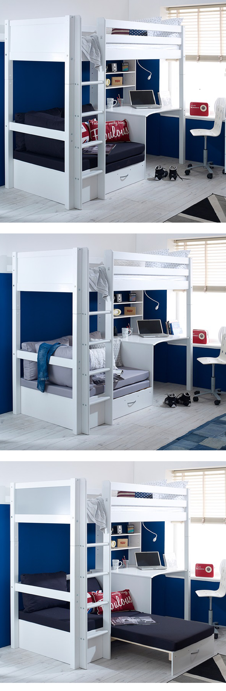 Miraculous No 1489 Morden Design High Sleeper Bedroom Furniture Wood Bunk Bed With Sofa Bed And Desk View Bunk Bed Babycasa Product Details From Huaian Evergreenethics Interior Chair Design Evergreenethicsorg