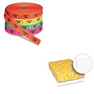 KITPMC59002WAU40411 - Value Kit - Pm Company Admit One Single Ticket Roll (PMC59002) and Neenah Paper Exact Index Card Stock (WAU40411)